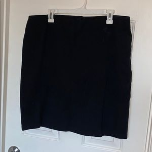 Women's black cotton pencil skirt